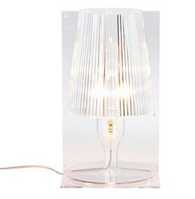 take-lampe-a-poser-h30cm-kartell-transparent