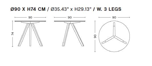 Table ronde CPH 20 Copenhague Ø50 cm H: 49 cm- Hay